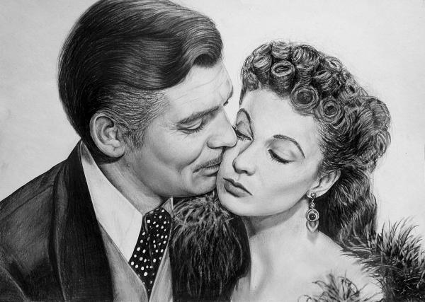Clark Gable, Vivien Leigh by Lazzzy